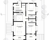 The Brick Abode - First Floor Plan - Alok Kothari Achitects