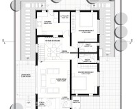 The Brick Abode - Ground Floor Plan - Alok Kothari Achitects