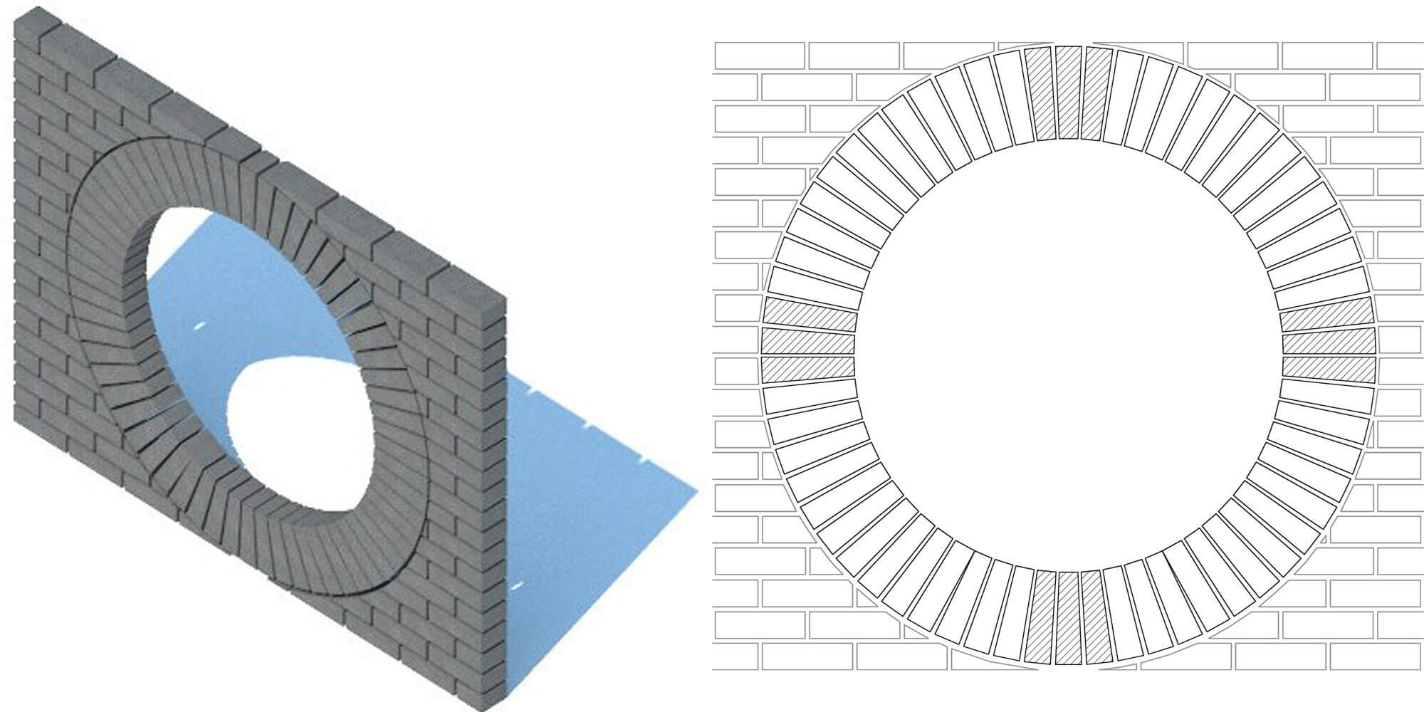 Figure 3.5 Bullseye Arch scale 1 20 elevation
