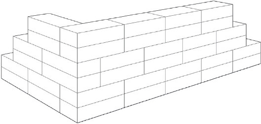 You Can Be Very Creative With Brickwork Bonds Here The Block Bond Has 4 Courses But It Alternates A Horizontal Vertical Stack
